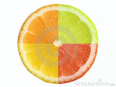 Citrus fruit and clipping path