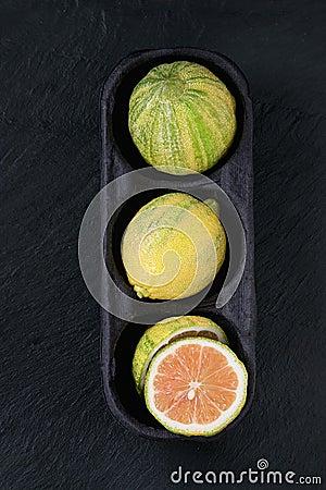 Free Citrus Fruit Pink Tiger Lemon Royalty Free Stock Images - 84350119