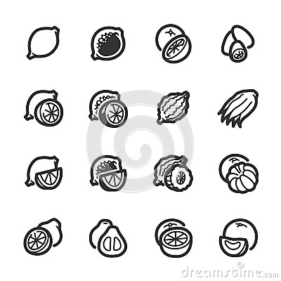 Free Citrus Fruits Icons – Bazza Series Royalty Free Stock Photography - 43663347