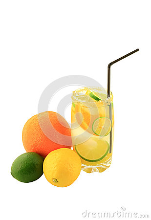 Free Citrus Fruits Infused Water. Royalty Free Stock Image - 31157076