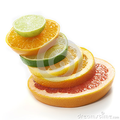 Free Citrus Fruits Slices Stacked Together Stock Photos - 32485863