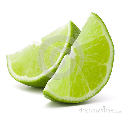 Free Citrus Lime Fruit Segment Isolated On White Background Cutout Royalty Free Stock Image - 36933666