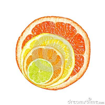 Free Citrus Slices Stock Photo - 25493100