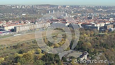 Città aerea di generale arena di Praga del fuco archivi video