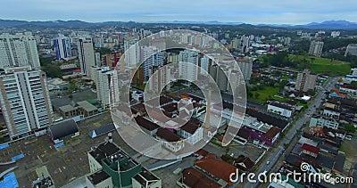 Città di Joinville, Stato brasiliano di Santa Catarina stock footage