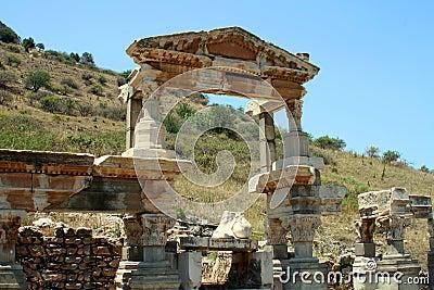 Città greca Ephesus di antichità