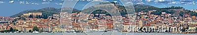 Città storica di panorama di Sibenik