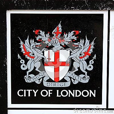 Città dell emblema di Londra