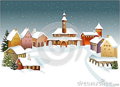Citt di inverno fotografia stock libera da diritti - Animali in inverno clipart ...