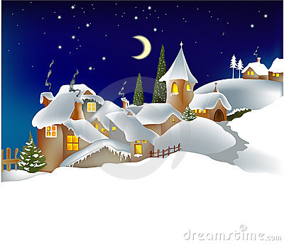 Citt di inverno immagini stock libere da diritti - Animali in inverno clipart ...