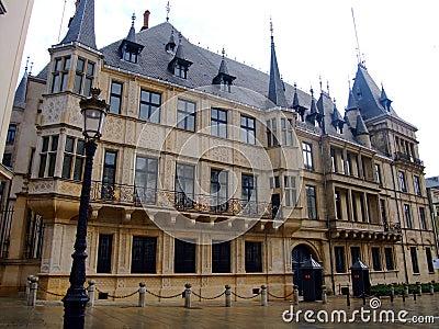 Città di Lussemburgo granducale del palazzo Luwembourg