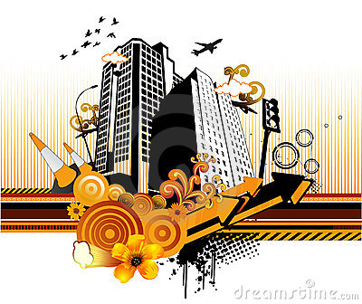 City Abstract Vector Stock Photo - Image: 5205730
