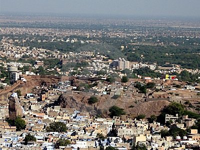 City aerial view - jodpur, rajasthan