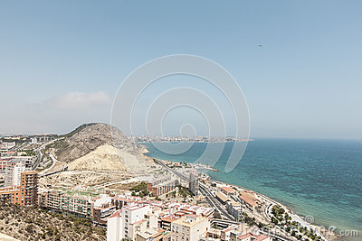 The City of Alicante in Southern Spain