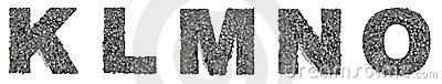 City alphabet letters K to O