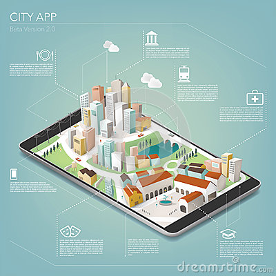 Free City App Royalty Free Stock Photo - 45312155