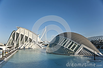 The city of Arts and Science in Valencia. Editorial Stock Image