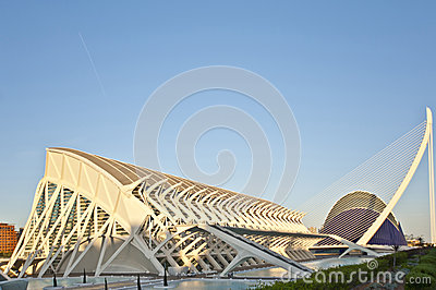 The city of Arts and Science in Valencia. Editorial Stock Photo