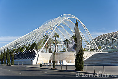 The city of Arts and Science in Valencia. Editorial Photo