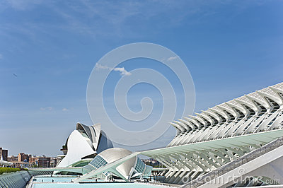 The city of Arts and Science in Valencia. Editorial Photography