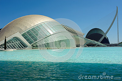 City of Arts and Sciences Editorial Stock Image