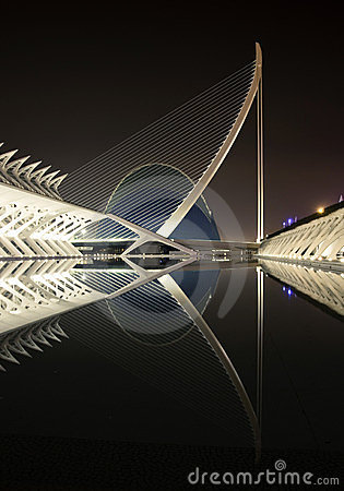 City of arts and sciences - agora vertical view Editorial Image