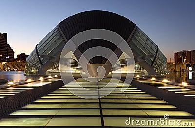City of Arts and Sciences Valencia Editorial Image