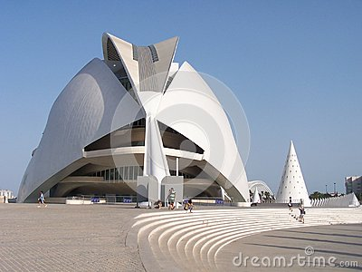 The City of Arts and Sciences in Valencia Editorial Stock Photo