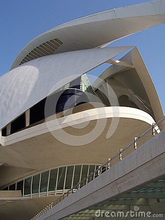 The City of Arts and Sciences in Valencia Editorial Stock Image