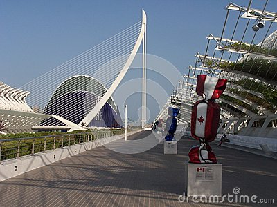 The City of Arts and Sciences in Valencia Editorial Photography