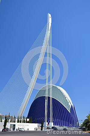 The City of Arts and Sciences in Valencia, Spain Editorial Photography