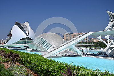 The City of Arts and Sciences in Valencia, Spain Editorial Photo