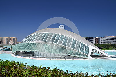The City Of Arts And Sciences In Valencia, Spain Editorial Stock Image - Imag...