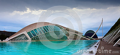 City of Arts and Sciences  in Valencia, Spain Editorial Photo