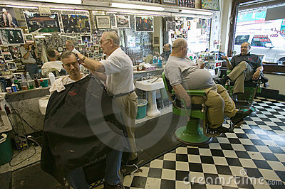 City Barber Shop Editorial Photo