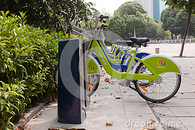 City bike, Zhuhai China Editorial Stock Photo