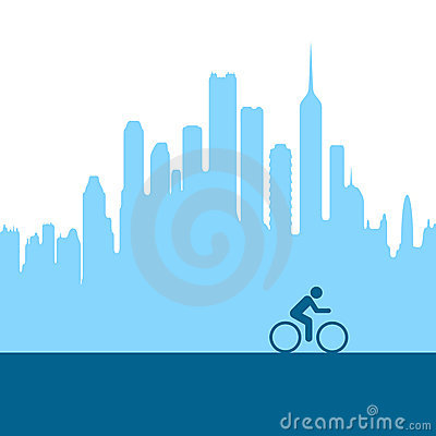 City biking