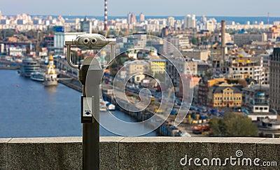 City binoculars