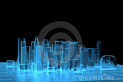 City Blue xray rendered