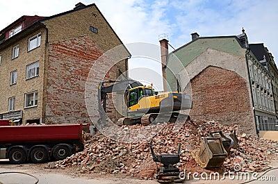 City building demolition process