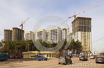City building of habitation Editorial Photo
