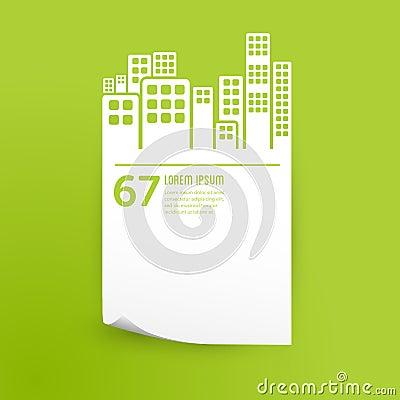 City / buildings infographic design element