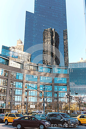 City buildings on the streets of New York day Editorial Stock Photo