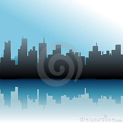 City Buildings Urban Skyline Sea Sky