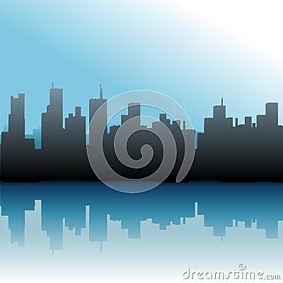 City Buildings Urban Skyline Sea Sky