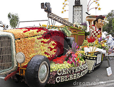 The City of Burbank s 2011 Rose Bowl Parade Float Editorial Stock Image