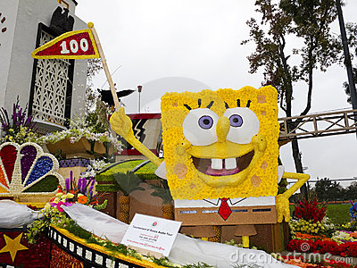 The City of Burbank s 2011 Rose Bowl Parade Float Editorial Photo