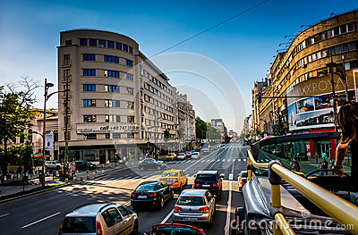 City Bus Bucharest Editorial Photography