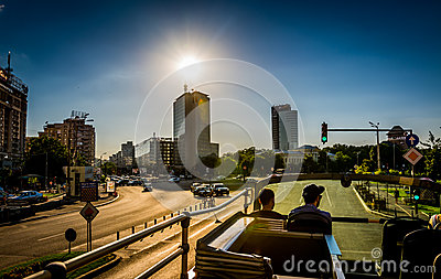 City Bus Sightseeing Editorial Stock Image