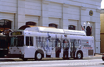 City bus signage Editorial Photography